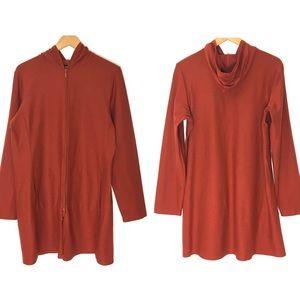 Eileen Fisher Burnt Orange Long Jacket